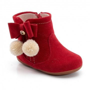 Bota Infantil Klin Mini Miss 039 Vermelho