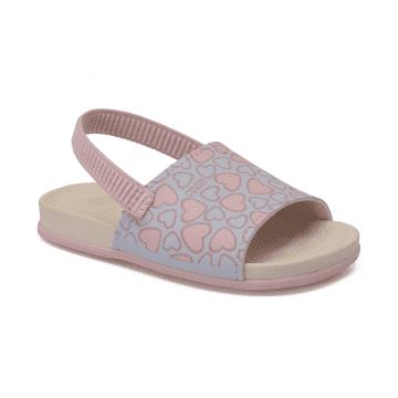 Chinelo Infantil Klin Summer 026 Azul Candy/Rosa Bebê