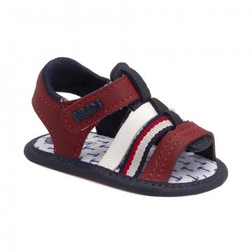 Sandália Bebê Klin 545 Vermelho/Marinho/Branco