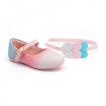 Sapatilha Infantil Klin Princesa Baby 141 Rosa/Azul