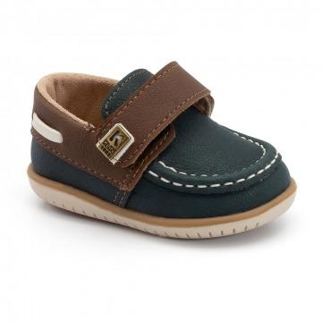 Sapato Infantil Klin Mini Flyer 138 Oceano/Carvalho