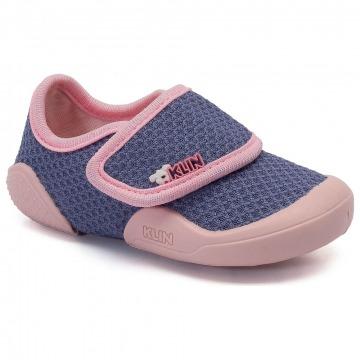 Sapato Infantil Klin New Comfort 074 Azul Jeans/Rosa Bebê