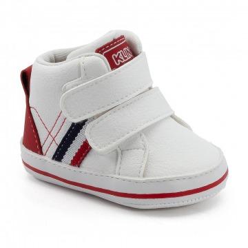 Tênis Bebê Klin 520 Branco/Vermelho