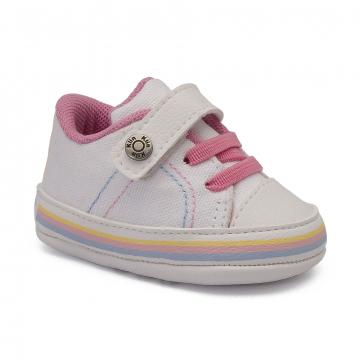Tênis Bebê Klin 556 Branco/Rosa