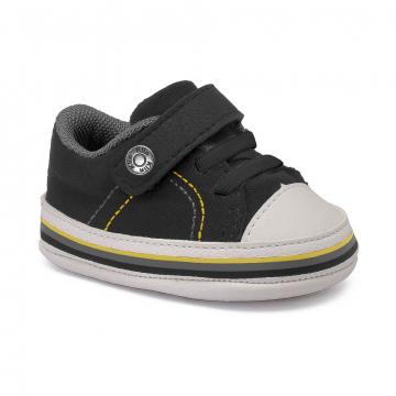 Tênis Bebê Klin 556 Preto/Amarelo