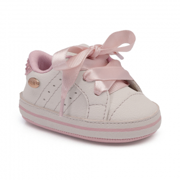Tênis Bebê Klin 558 Branco/Rosa