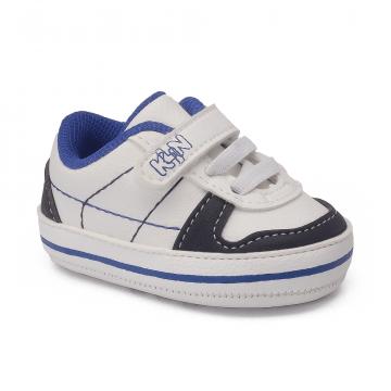 Tênis Bebê Klin 561 Branco/Marinho/Royal