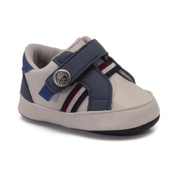 Tênis Bebê Klin 595 Gelo/Marinho/Royal
