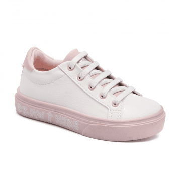 Tênis Infantil Klin Baby Style Colorir 040 Branco/Rosa