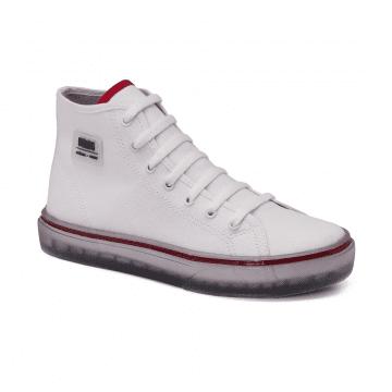Tênis Infantil Klin Freestyle 064 Branco/Vermelho/Preto