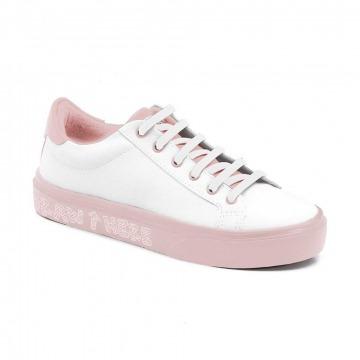 Tênis Infantil Klin Freestyle Colorir 058 Branco/Rosa