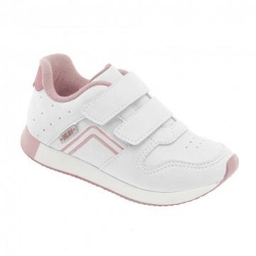 Tênis Infantil Klin Walk 086 Branco/Rosa